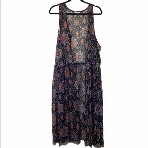 Maurices lightweight boho duster vest for layering